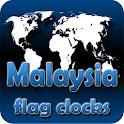 Malaysia flag clocks icon