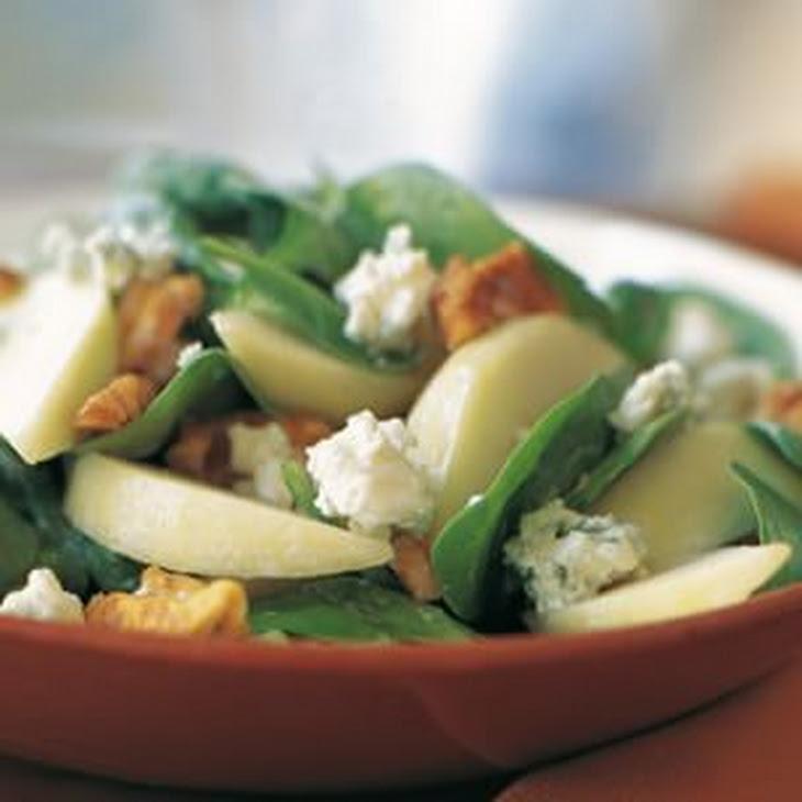 Spinach, Pear and Walnut Salad Recipe | Yummly