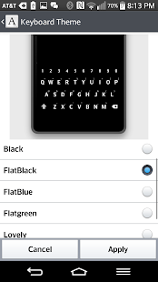 FlatBlack KeyBoard LG THEME - screenshot
