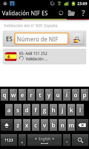 Validación NIF ES