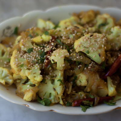 Spiced Cauliflower with Sesame Seeds