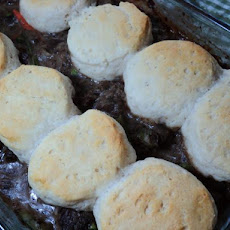 Beef Stew With Onion Gravy and Biscuit Dumplings