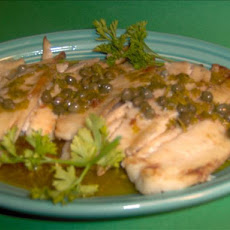 Broiled Fish With Buttery Caper Sauce
