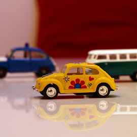 Happy Bug by Emina Dedić - Artistic Objects Toys ( car, vw, love, toy, floweer, bug, children, yellow )
