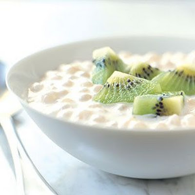Jasmine-Scented Tapioca Pudding with Kiwifruit