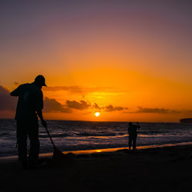 Dominican Sunrise by Trish Cassling - Novices Only Landscapes ( clouds, sky, ocean, beach, sunrise, morning )
