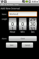 Screenshot of HIIT It Workout Timer