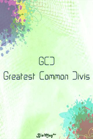GCD Greatest Common Divisor