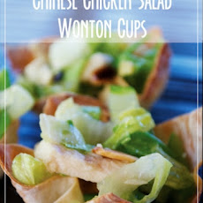 Chinese Chicken Salad Wonton Cups