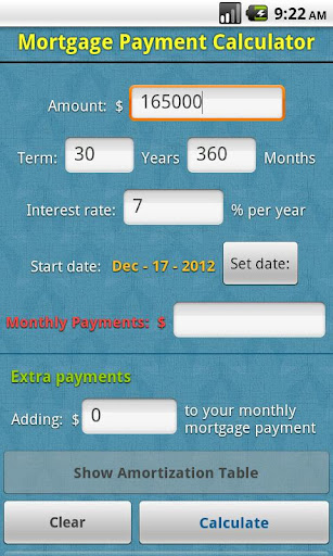 Assignment of mortgage year calculator on windows