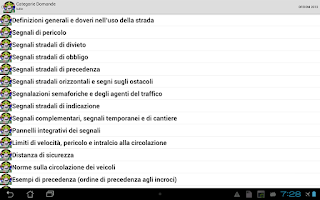 Screenshot of Patente Quiz e Manuale 2014