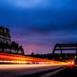 360 Bridge at Night by Kevin Smith - City,  Street & Park  Street Scenes ( bridge long exposure night photography )