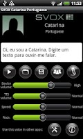 Screenshot of SVOX Portuguese Catarina Voice
