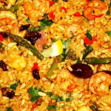 Paella with a Moroccan Twist