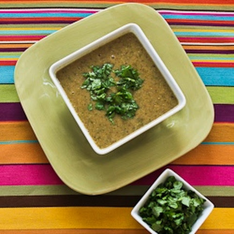Chipotle and Black-Eyed Pea Soup with Double Cilantro