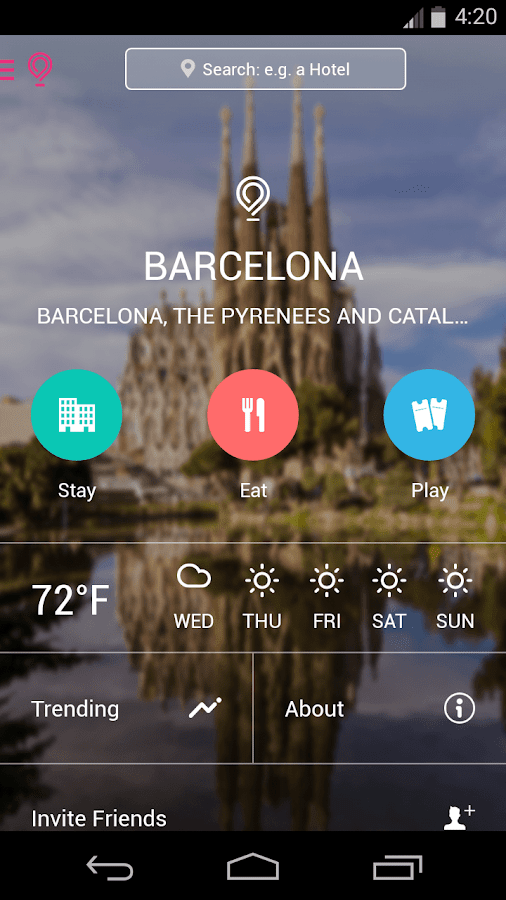 Barcelona city guide for lollipop - android 50