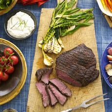 London Broil with Creamy Horseradish Sauce