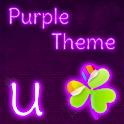 GO Launcher EX Thème Violet icon