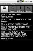 Screenshot of Texas Family Code