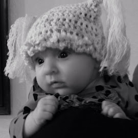 Lena in her new hat by Theresa Campbell - Babies & Children Babies