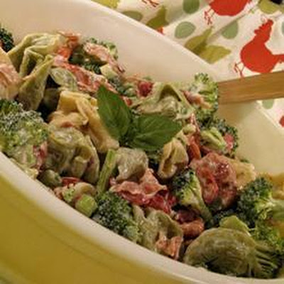 Cheese Tortellini and Bacon Salad