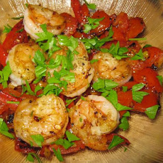 Shrimp & Tunisian Fresh Tomato Relish