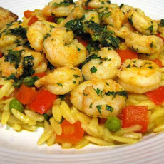 Sunset Orzo With Spanish Shrimp