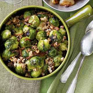 Brussels Sprouts With Prosciutto and Walnuts
