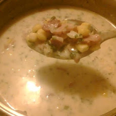 Potato Corn Ham Chowder