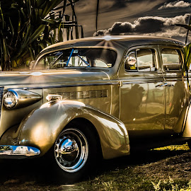 Golden Beauty by Esther Visser - Transportation Automobiles ( #old, #automobile, #car, #vintage, #gold,  )