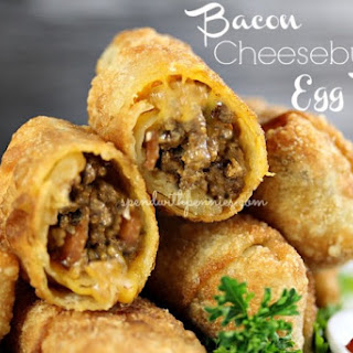 Bacon Cheeseburger Egg Rolls