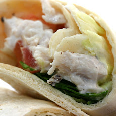 Crabby Tortilla-Wrap With 3-Cheese Filling