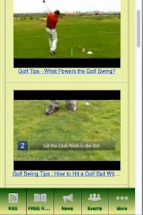Golf Swing Tips - screenshot