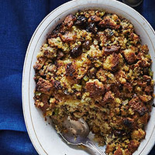 Cornbread Stuffing with Sausage, Cherries & Chesnuts