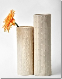 cable knit vases
