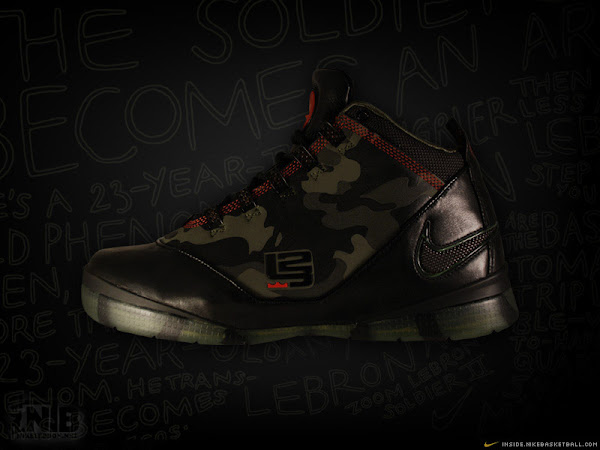 New pics of the Camo Nike Soldier II with Dunkman