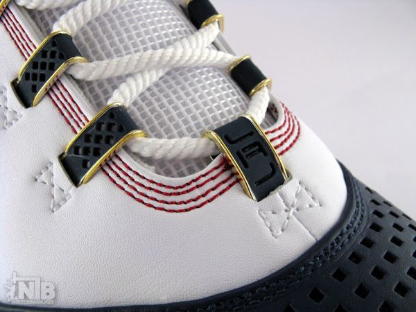 LeBron8217s White and Navy Zoom Soldier II Showcase