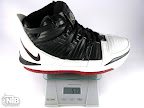 lebron3 black white red gram Weightionary