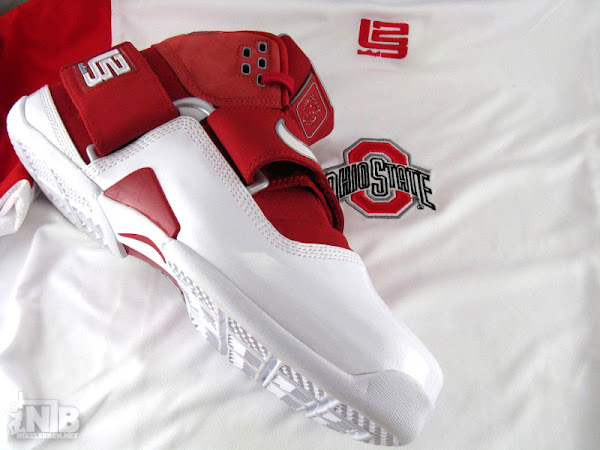 Nike Zoom Soldier WhiteRedGold GR vs Ohio State Away PE