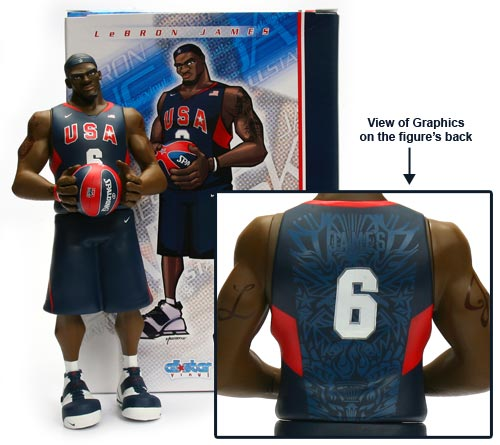 LeBron James AllStar Vinyl Figure USA Basketball Edition