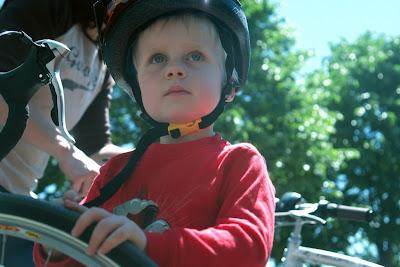 Alex in bike helmet
