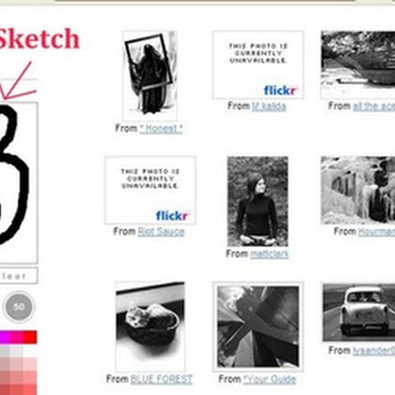 Don't type. Search Flickr by sketching