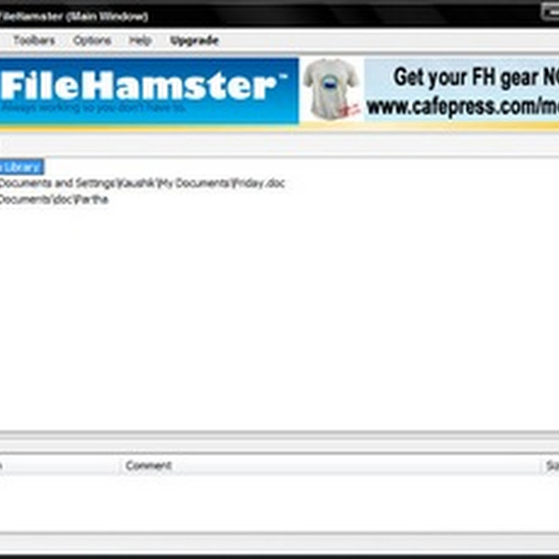 Incremental backup and file monitoring with FileHamster
