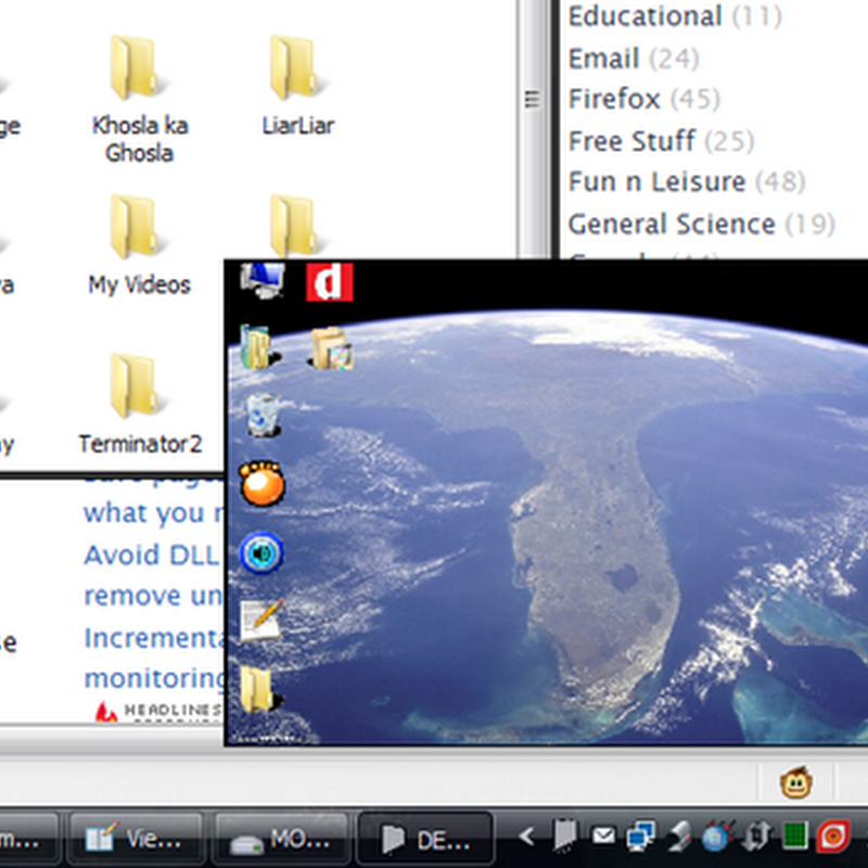 View your desktop without minimizing opened windows with DESKonTOP