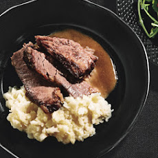 Horseradish-Glazed Brisket and Short Ribs with Root Vegetable Mash