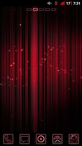Red Neon Glow - Go Launcher EX