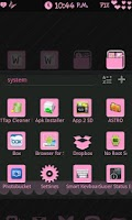 Screenshot of Girly GoLauncher EX Theme