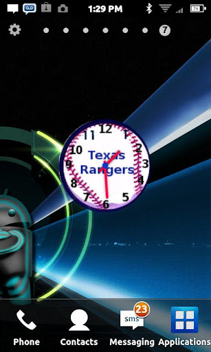 Texas Rangers Clock Widget
