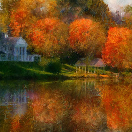 reflections of past by Scott Bennett - Painting All Painting