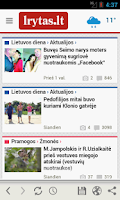 Screenshot of Lrytas.lt for Android phone
